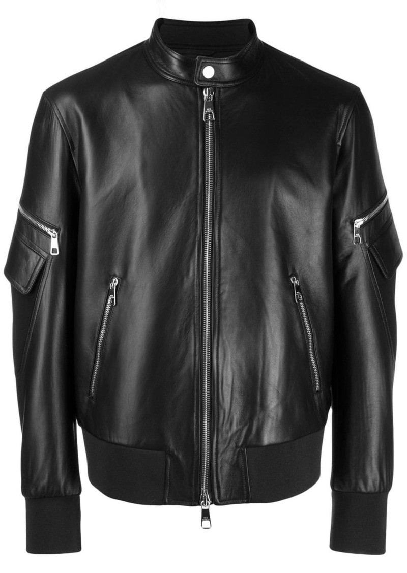 Neil Barrett zipped-up leather jacket