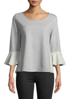 Neiman Marcus 3/4 Bell Sleeve Sweatshirt