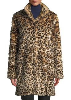Neiman Marcus Animal Print Faux-Fur Coat