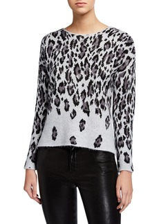 Neiman Marcus Animal Printed Sweater