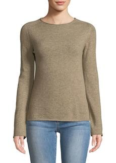 Neiman Marcus Basic Cashmere Crewneck Pullover Sweater  Tan