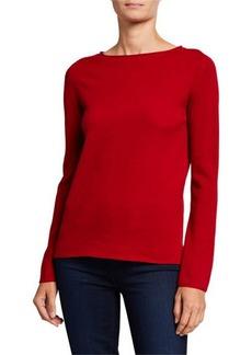 Neiman Marcus Basic Crewneck Cashmere Sweater