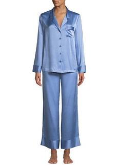 Neiman Marcus Basic Silk PJs Set