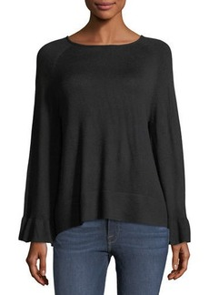 Neiman Marcus Bell-Sleeve Sweater