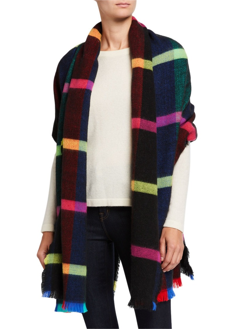 Neiman Marcus Bright Plaid Wrap
