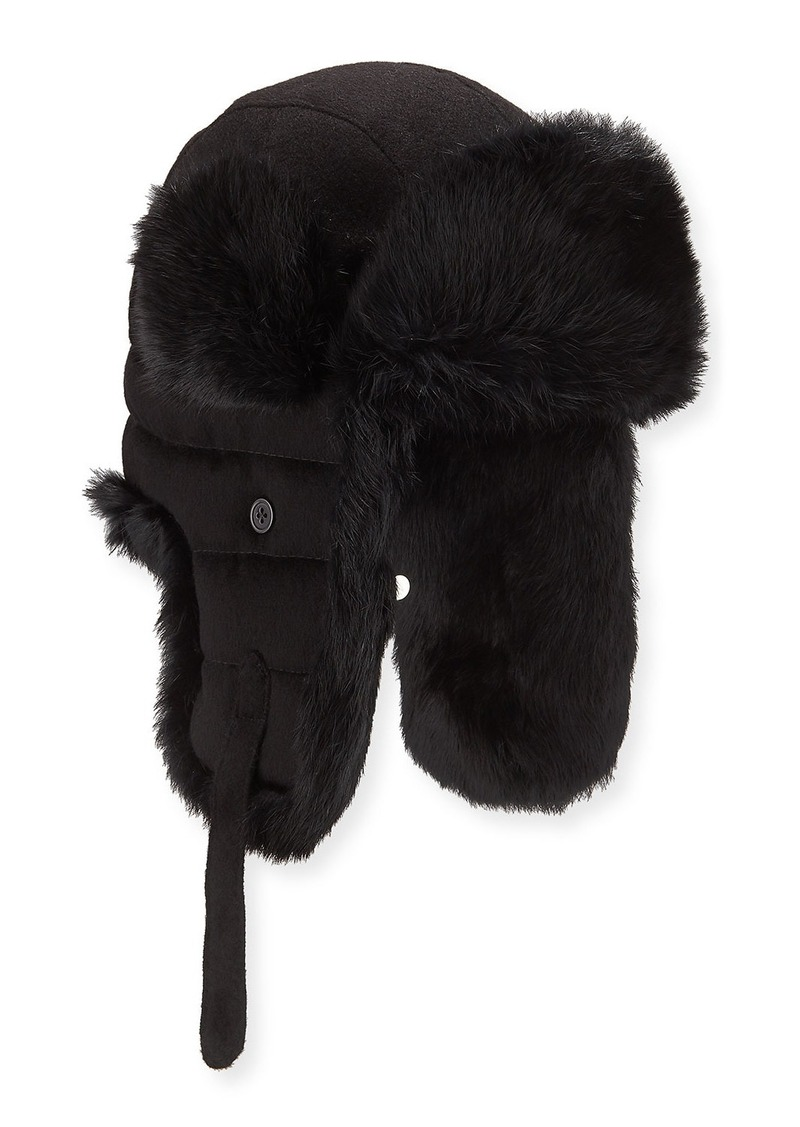 Neiman Marcus Camel Hair Trapper Hat