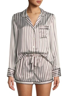 Neiman Marcus Neiman Marcus Satin Silk Two-Piece Pajama Set  09c247f58