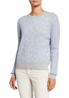 Neiman Marcus Cashmere Animal Pattern Sweater