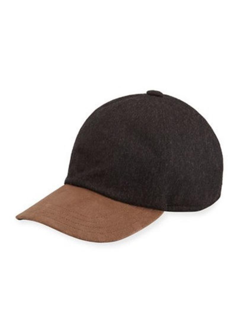 Neiman Marcus Cashmere Baseball Cap w/ Suede Bill