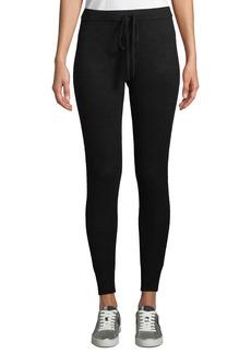 Neiman Marcus Cashmere-Blend Drawstring Jogger Pants