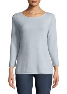 Neiman Marcus Cashmere Boat-Neck Pullover Sweater