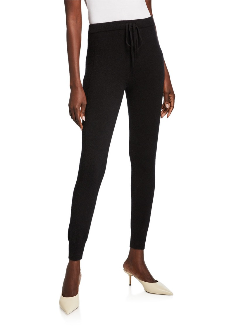 Neiman Marcus Cashmere Fitted Joggers
