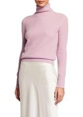 Neiman Marcus Cashmere Honeycomb Turtleneck Sweater