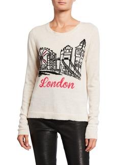 Neiman Marcus Cashmere London Intarsia Sweater