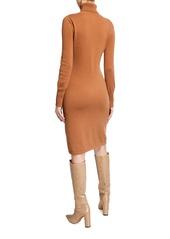 Neiman Marcus Cashmere Long-Sleeve Turtleneck Dress