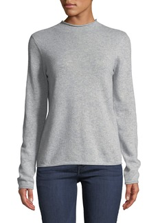 Neiman Marcus Cashmere Mock-Neck Sweater  Gray