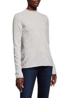Neiman Marcus Cashmere Mock-Neck Sweater