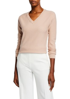 Neiman Marcus Cashmere Modern V-Neck Sweater