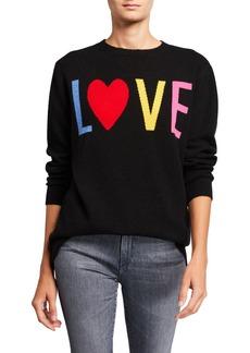 Neiman Marcus Cashmere Multi-Love Crewneck Sweater