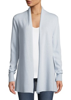 Neiman Marcus Cashmere Open-Front Computer Cardigan