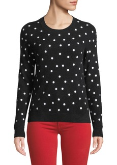 Neiman Marcus Cashmere Polka-Dot Pullover Sweater