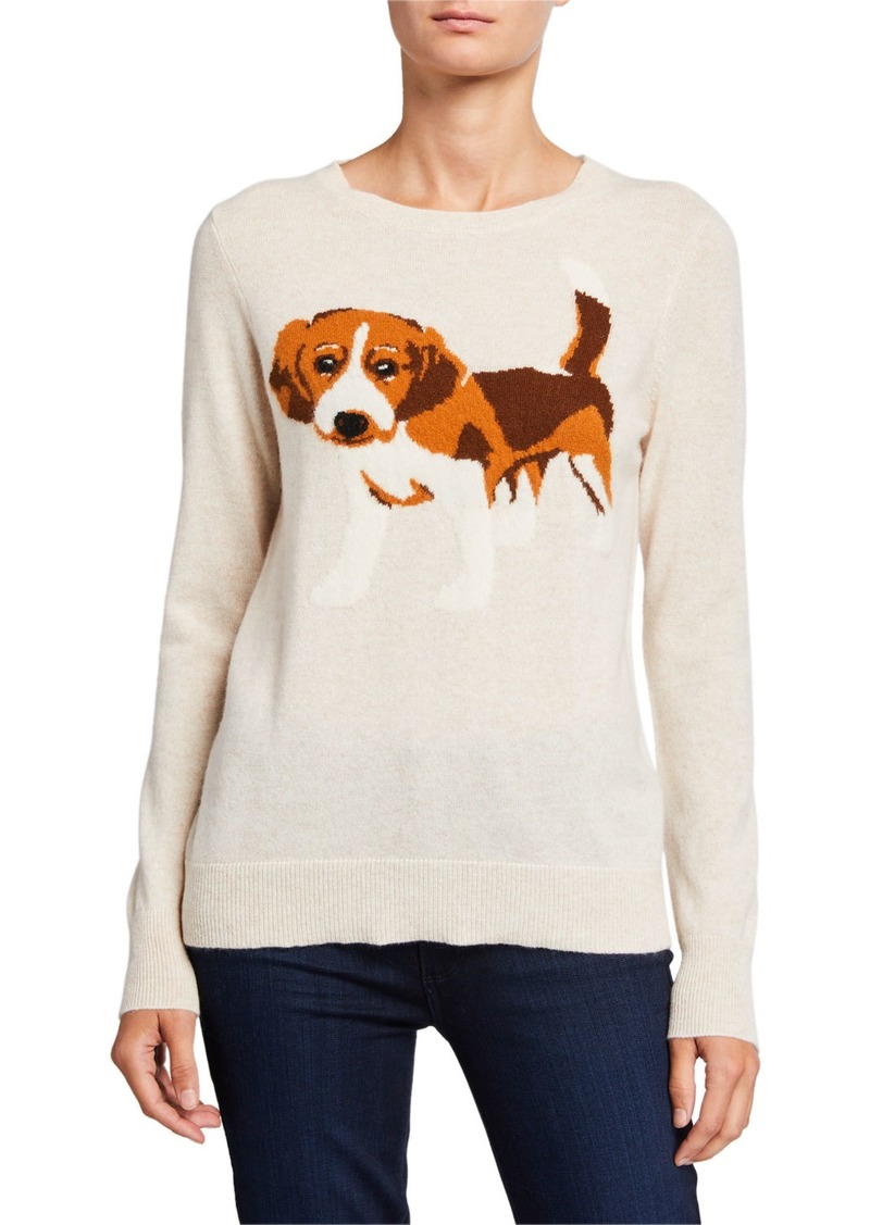 Neiman Marcus Cashmere Puppy Pullover