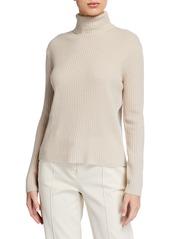 Neiman Marcus Cashmere Ribbed Turtleneck Sweater