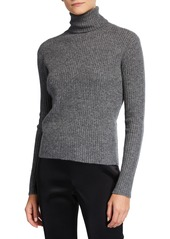 Neiman Marcus Cashmere Ribbed Turtleneck Sweater