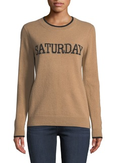 Neiman Marcus Cashmere Saturday Pullover Sweater
