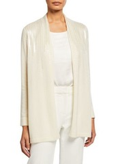 Neiman Marcus Cashmere Scattered Sequin Open-Front Cardigan