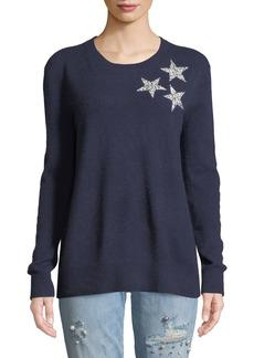 Neiman Marcus Cashmere Sequin-Star Sweater