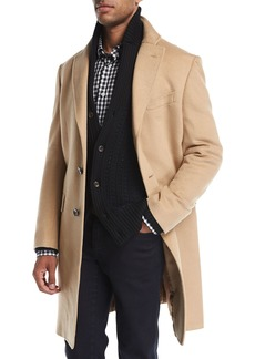 Neiman Marcus Cashmere Single-Breasted Top Coat