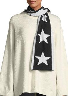 Neiman Marcus Cashmere Star Intarsia Skinny Scarf
