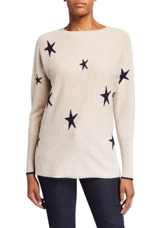 Neiman Marcus Cashmere Stars Dolman Pullover Sweater