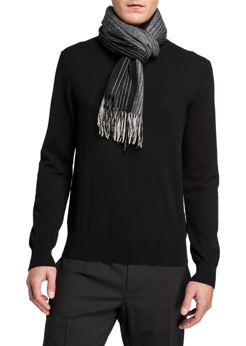 Neiman Marcus Cashmere Striped Scarf