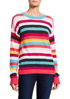 Neiman Marcus Cashmere Striped Sweater