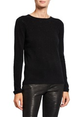 Neiman Marcus Cashmere Studded Pullover