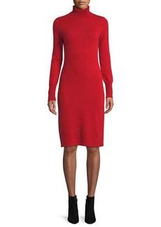 Neiman Marcus Plus Size Cashmere Turtleneck Sweater Dress