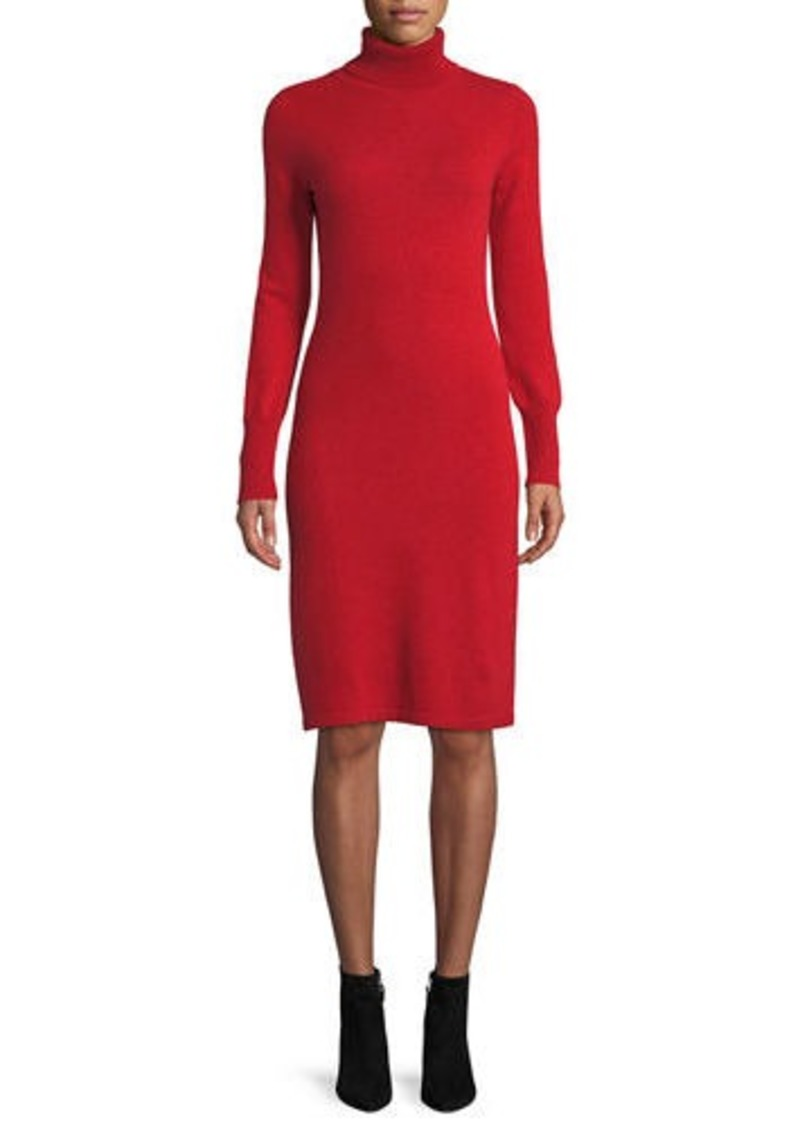 Neiman Marcus Plus Size Cashmere Turtleneck Sweater Dress | Dresses