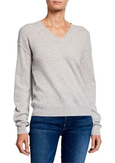 Neiman Marcus Cashmere V-Neck Pullover