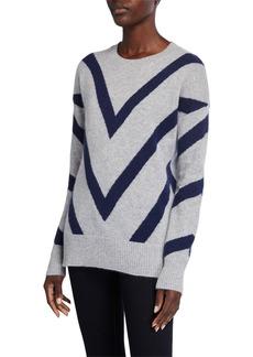 Neiman Marcus Chevron Cashmere Sweater