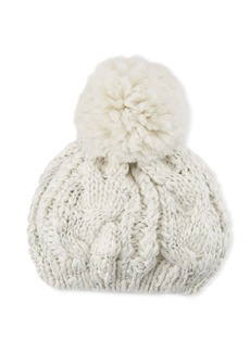 e8579208add6a Neiman Marcus Chunky Cable Knit Beret with Pompom