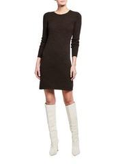 Neiman Marcus Classic Cashmere Crewneck Dress
