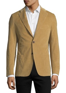 Neiman Marcus Corduroy Three-Button Sport Jacket