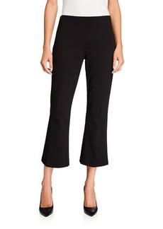 Neiman Marcus Cropped Ponte Flare Pant