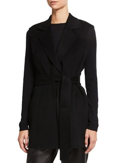 Neiman Marcus DF NOTCH COLLAR VEST WITH BE