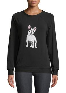 Neiman Marcus Dog-Sequined Sweatshirt