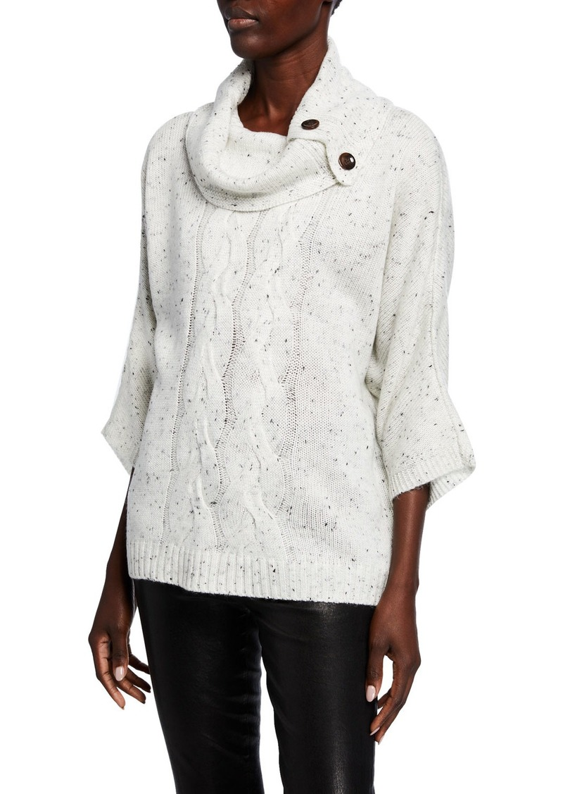 Neiman Marcus Donegal Cowl-Neck Poncho