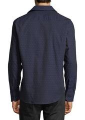 Neiman Marcus Dot-Print Woven Sport Shirt