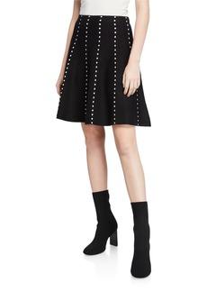 Neiman Marcus Dots Full-Flare Skirt